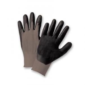 Ultra-Thin Light Gray Nitrile Palm Coated Gloves (1 dozen)