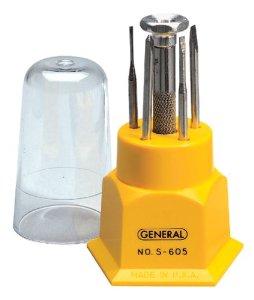 s605 general jewelers screwdriver kit made in u s a. Black Bedroom Furniture Sets. Home Design Ideas
