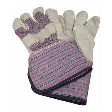 1 Dozen Leather Palm Work Gloves Long Cuff