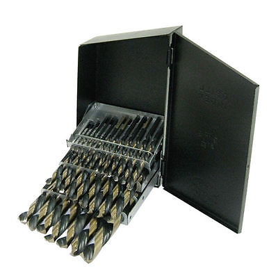 10177A 29 pc Cobalt Reduced Shank Drill Bit Set Sizes: 1/16