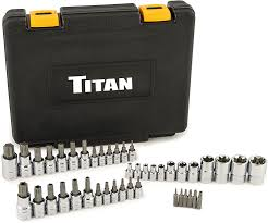 54137 Titan 43 pc Master Star Bit Socket Set with Durable Plastic Case