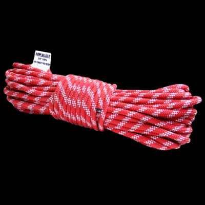 81004 100 ft Red and White Poly Rope