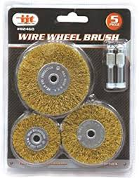 82460 5 pc Brass Wire Wheel Brush Sizes:2