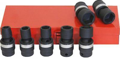 68095 GRIP 3/8' drive 8 pc Metric Shallow Impact Universal Joint Socket Set Sizes 10 mm to 17 mm in metal storage case