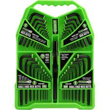 92258 GRIP 36 pc Hex Key Set SAE & Metric 1.5-10 MM to 1/16