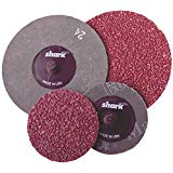 12844 SHARK 10 Pack 3 Inch Resin Fiber Sanding Discs 24 Grit Coarse Made in U.S.A.