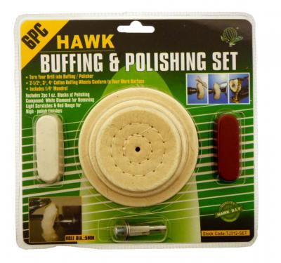 TJ312-SET 6 pc Buffing and Polishing Set 1/4